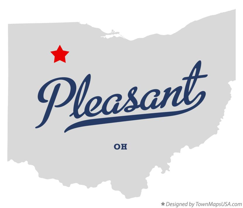Map of Pleasant Ohio OH