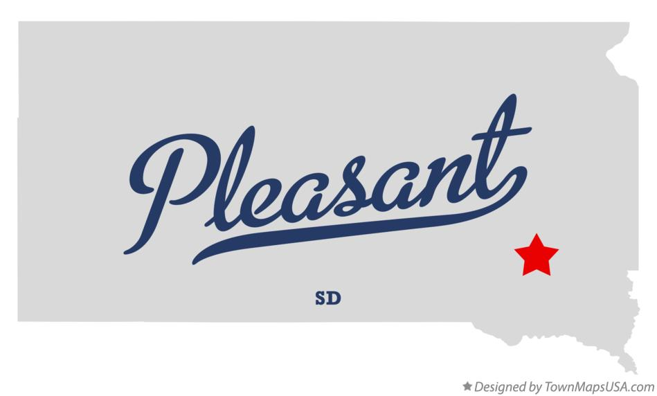 Map of Pleasant South Dakota SD