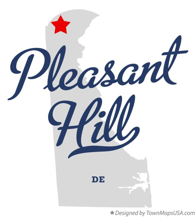 Map of Pleasant Hill Delaware DE