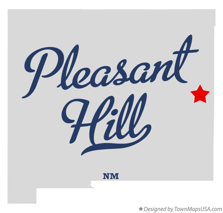 Map of Pleasant Hill New Mexico NM