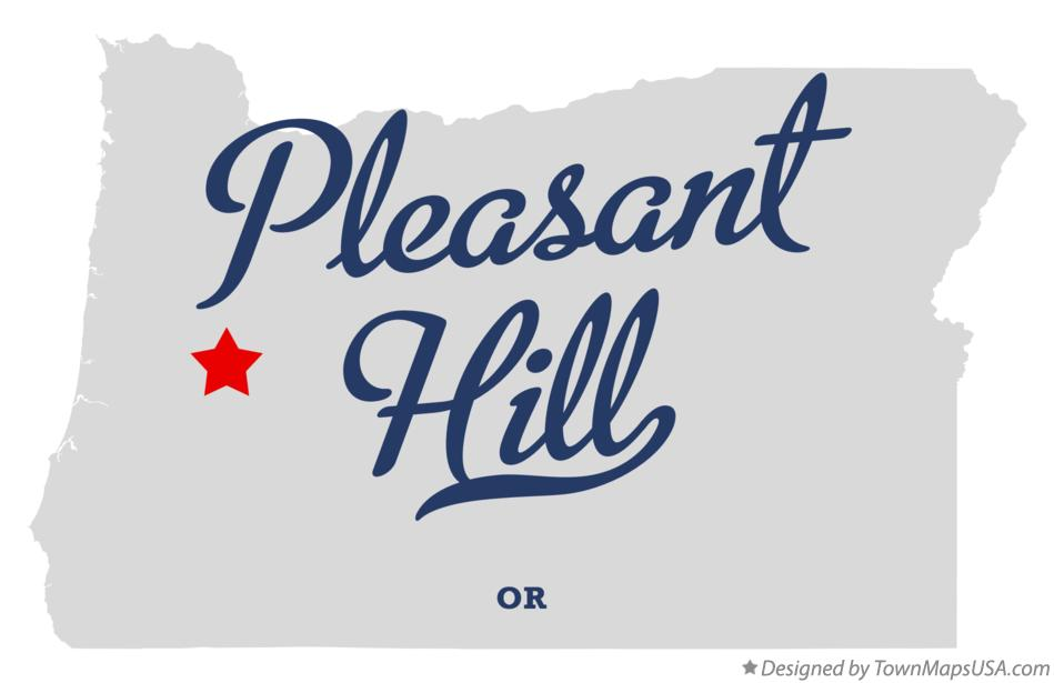 Map of Pleasant Hill Oregon OR