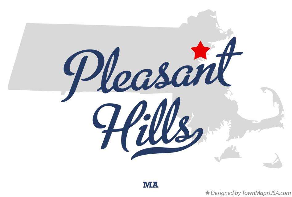 Map of Pleasant Hills Massachusetts MA