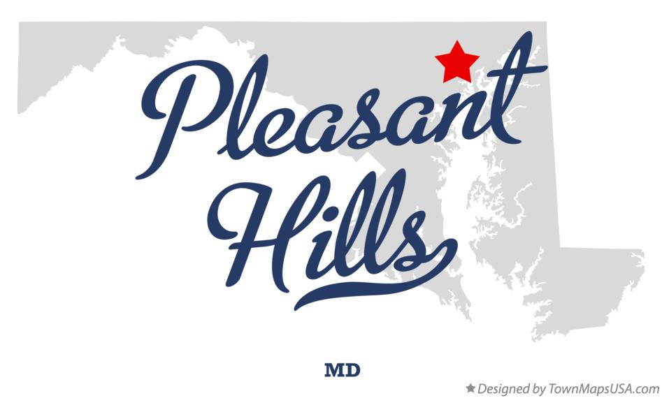 Map of Pleasant Hills Maryland MD