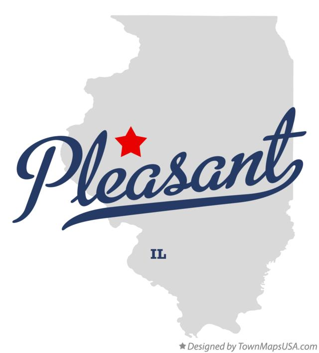 Map of Pleasant Illinois IL