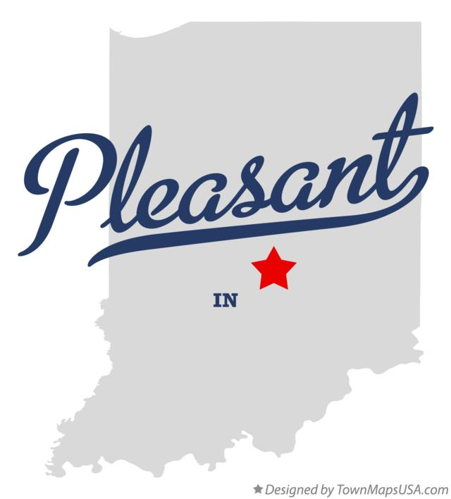 Map of Pleasant Indiana IN