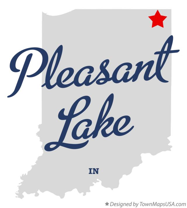 Map of Pleasant Lake Indiana IN