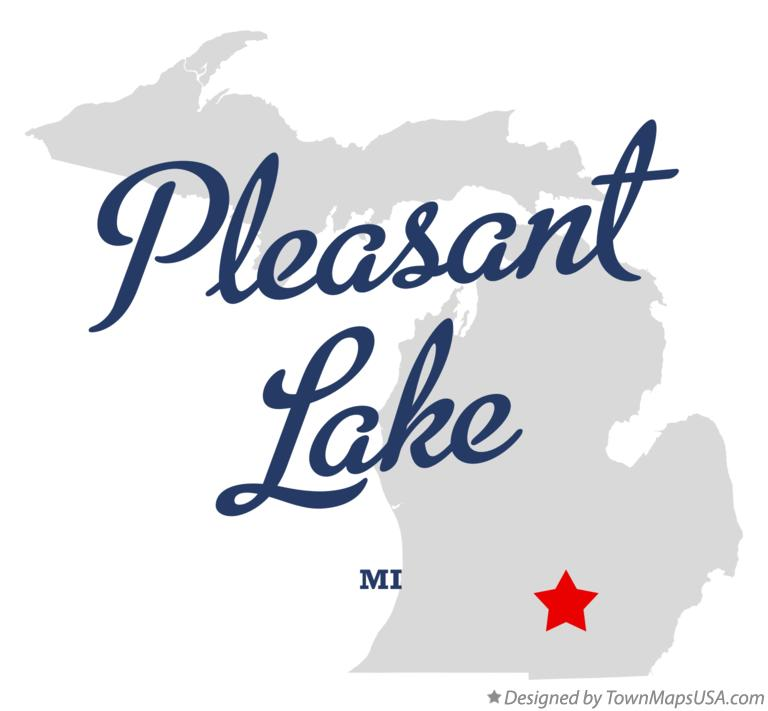 Map of Pleasant Lake Michigan MI