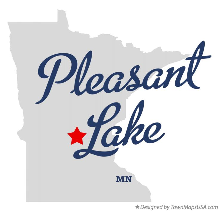 Map of Pleasant Lake Minnesota MN