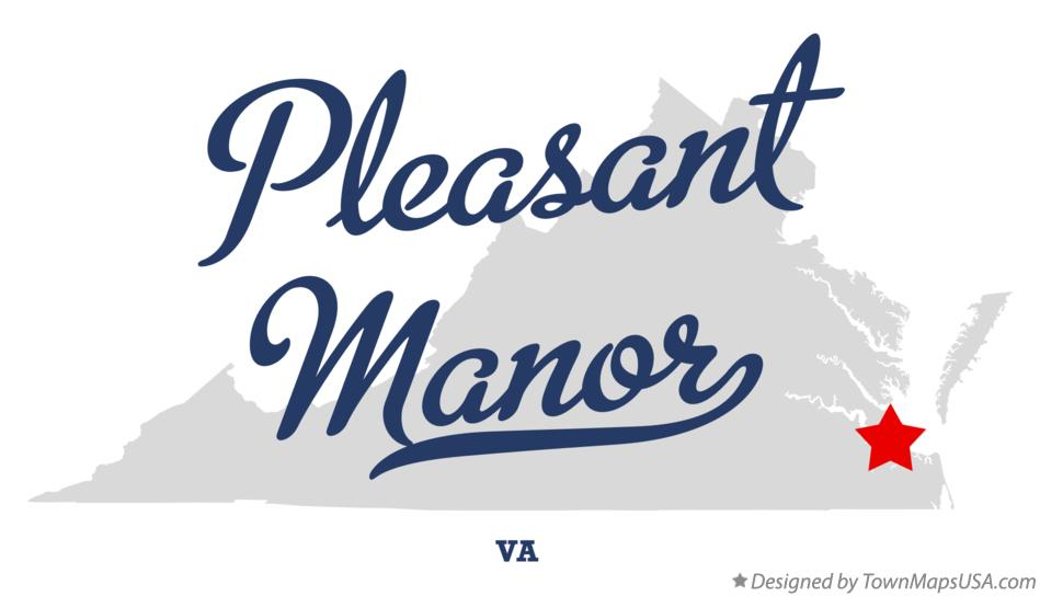 Map of Pleasant Manor Virginia VA