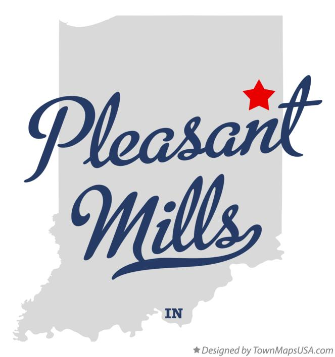 Map of Pleasant Mills Indiana IN