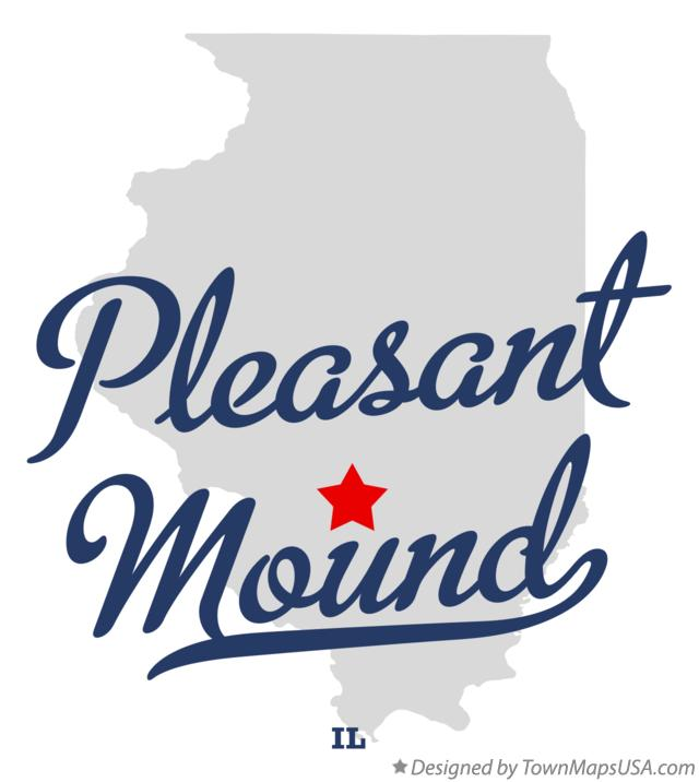 Map of Pleasant Mound Illinois IL