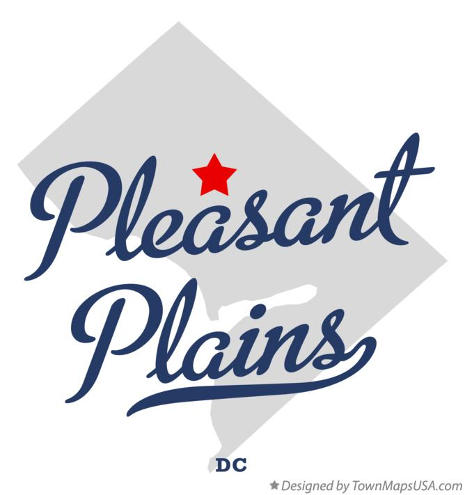 Map of Pleasant Plains District Of Columbia DC