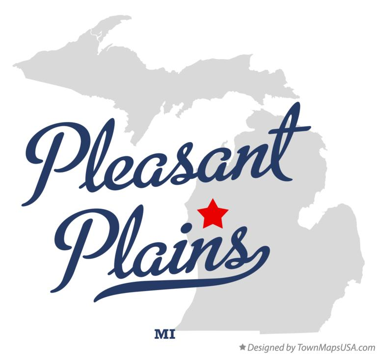 Map of Pleasant Plains Michigan MI