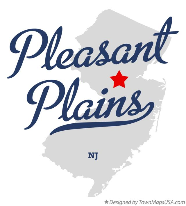 Map of Pleasant Plains New Jersey NJ