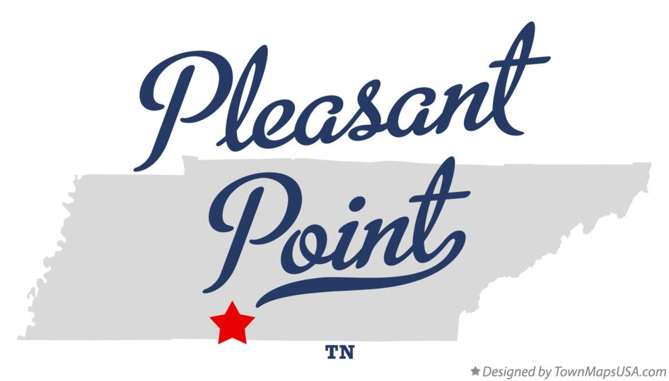 Map of Pleasant Point Tennessee TN