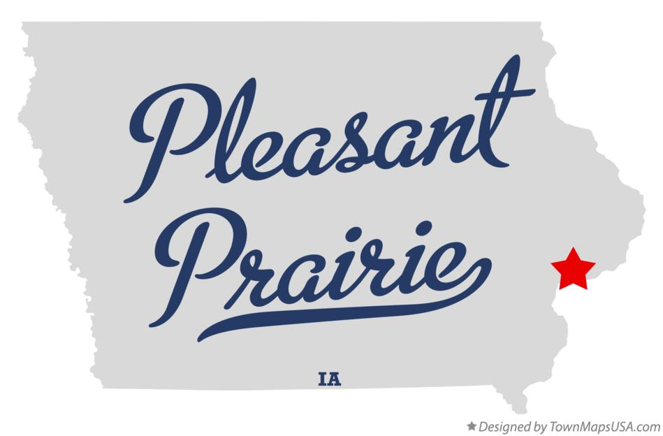 Map of Pleasant Prairie Iowa IA