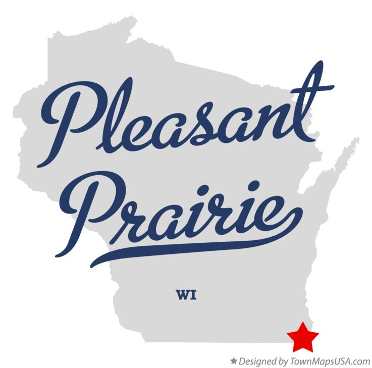 Map of Pleasant Prairie Wisconsin WI