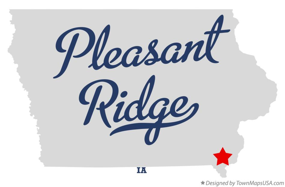 Map of Pleasant Ridge Iowa IA