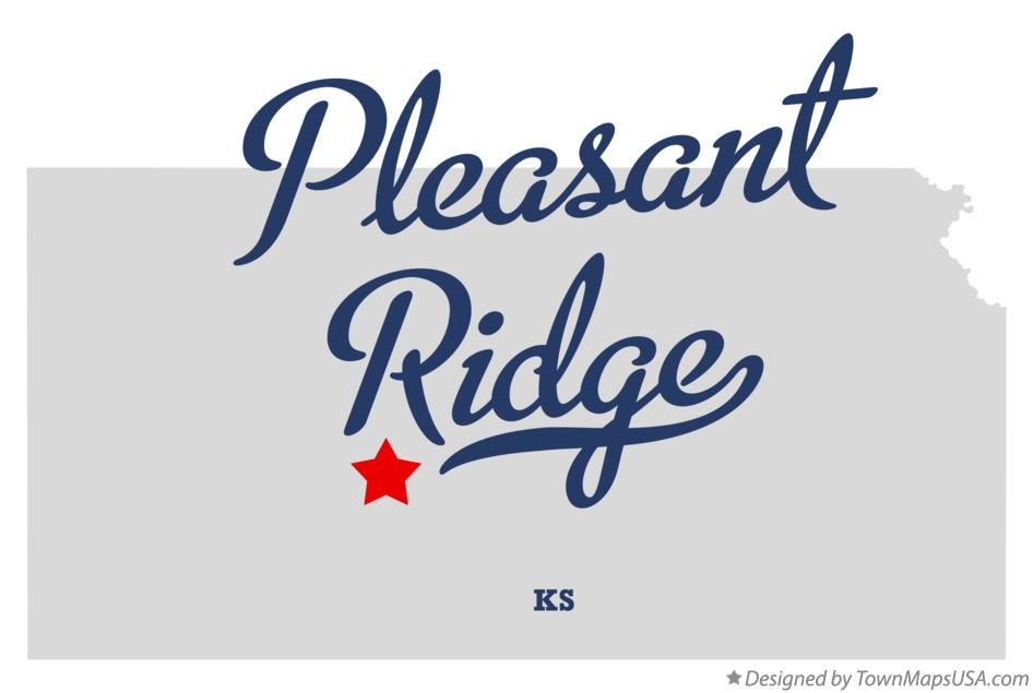 Map of Pleasant Ridge Kansas KS