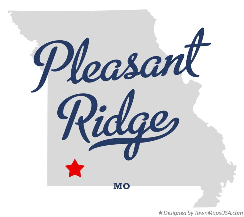 Map of Pleasant Ridge Missouri MO