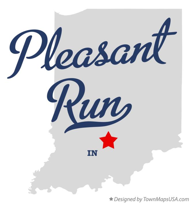 Map of Pleasant Run Indiana IN