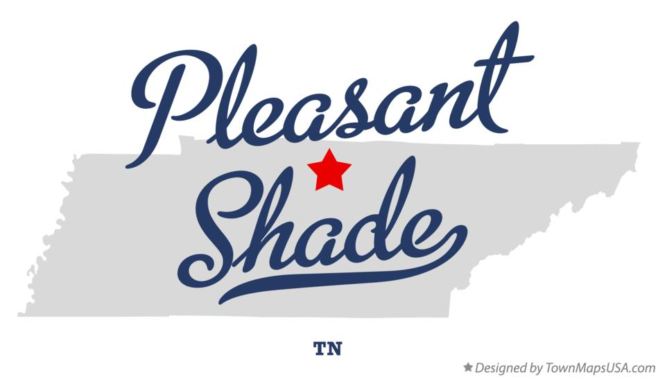 Map of Pleasant Shade Tennessee TN