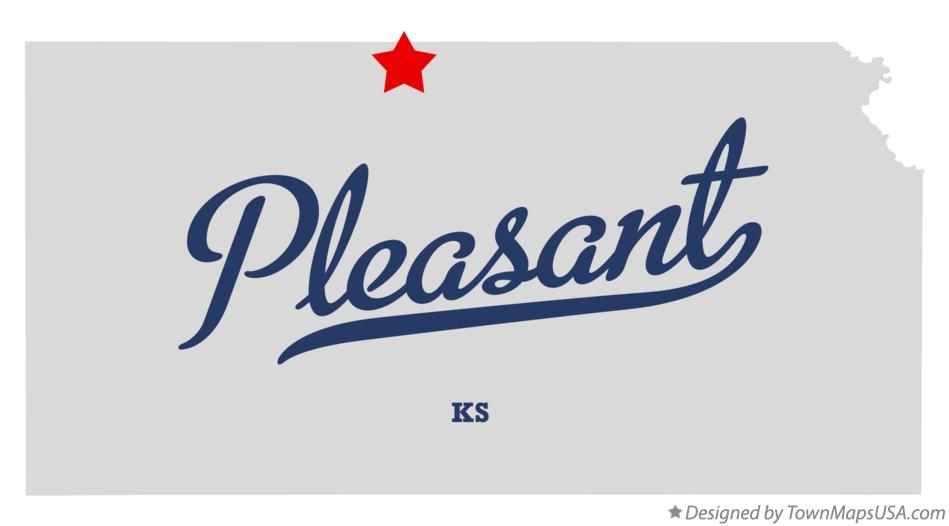 Map of Pleasant Kansas KS