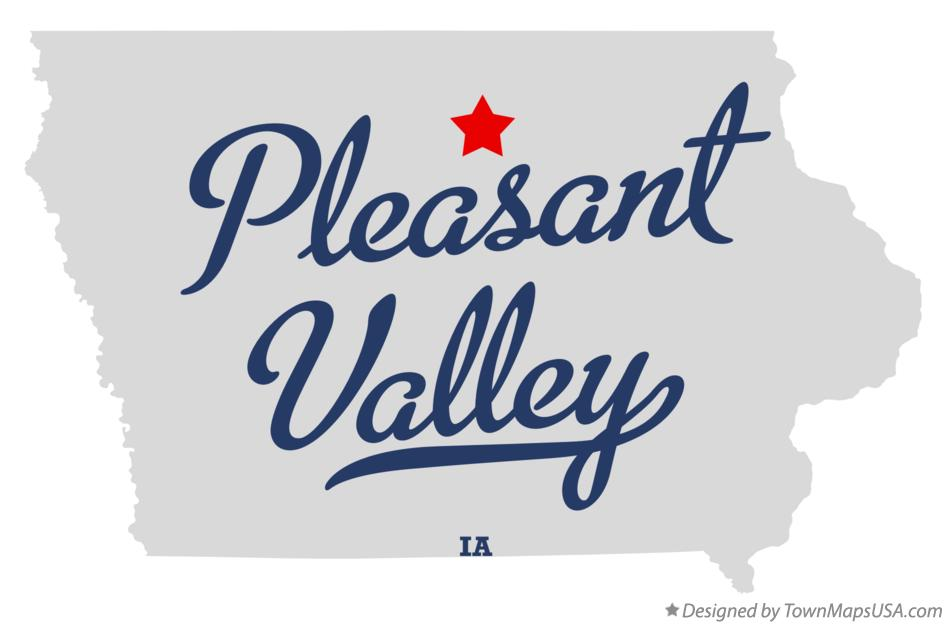Map of Pleasant Valley Iowa IA