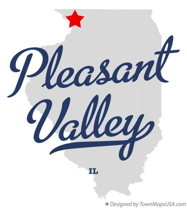 Map of Pleasant Valley Illinois IL