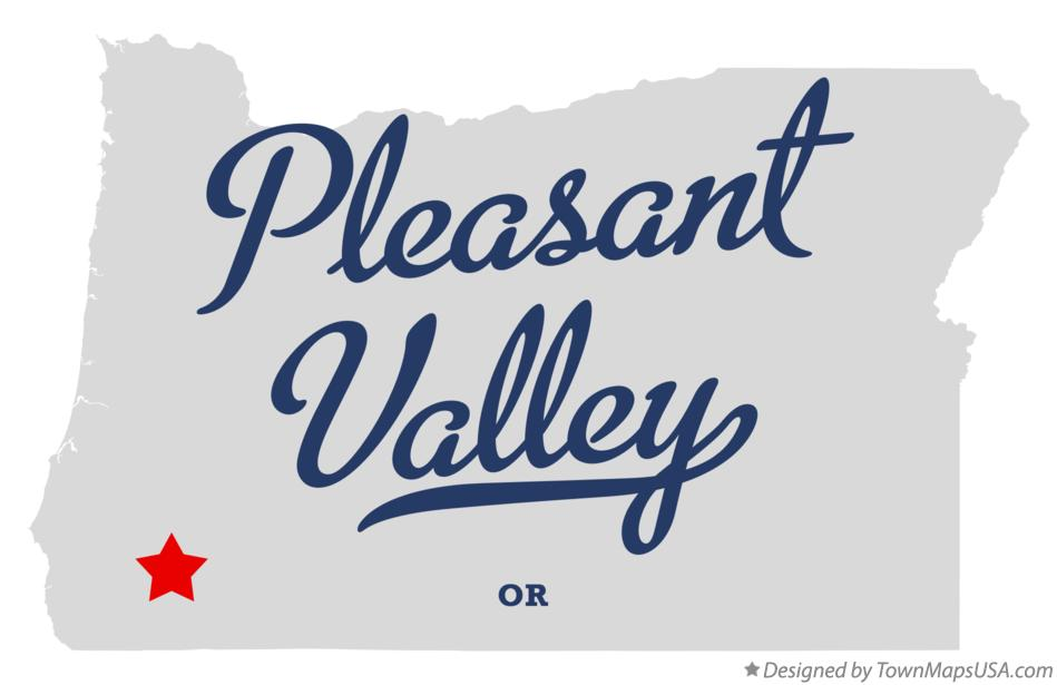 Map of Pleasant Valley Oregon OR