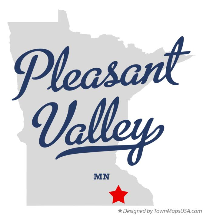 Map of Pleasant Valley Minnesota MN