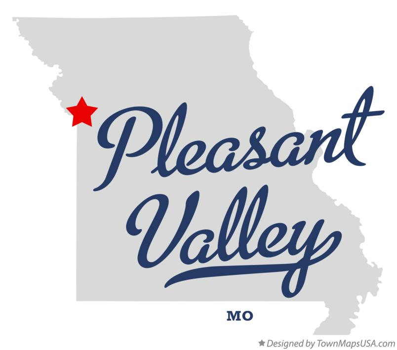 Map of Pleasant Valley Missouri MO