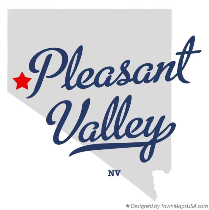 Map of Pleasant Valley Nevada NV