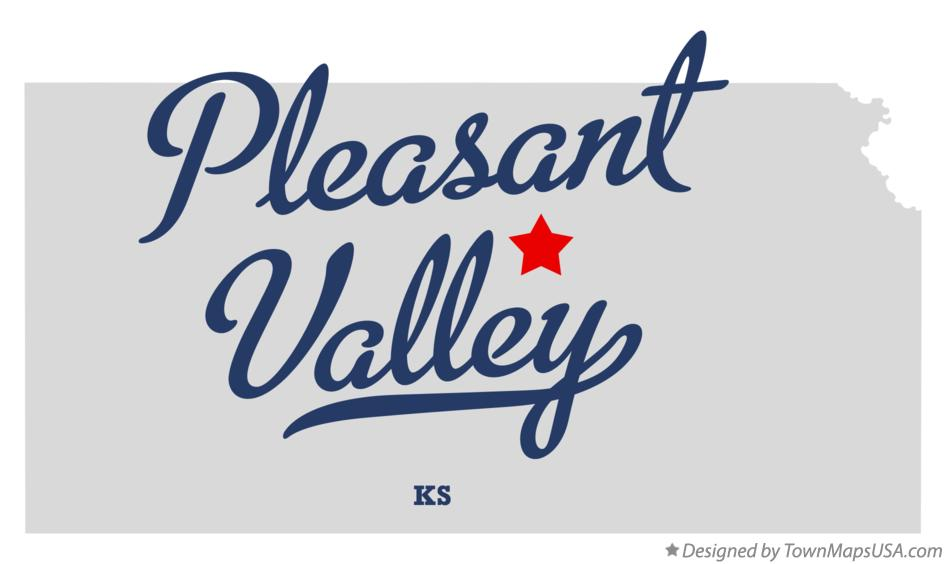Map of Pleasant Valley Kansas KS