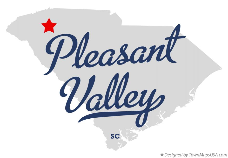 Map of Pleasant Valley South Carolina SC