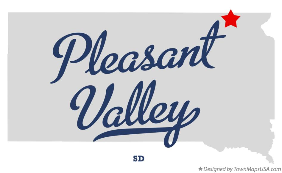 Map of Pleasant Valley South Dakota SD