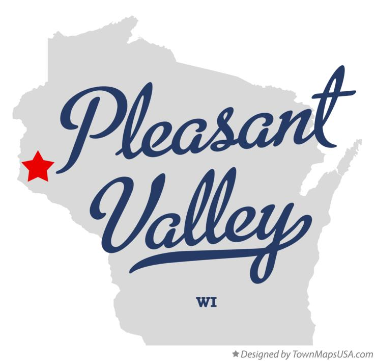 Map of Pleasant Valley Wisconsin WI