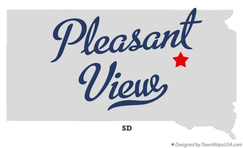Map of Pleasant View South Dakota SD