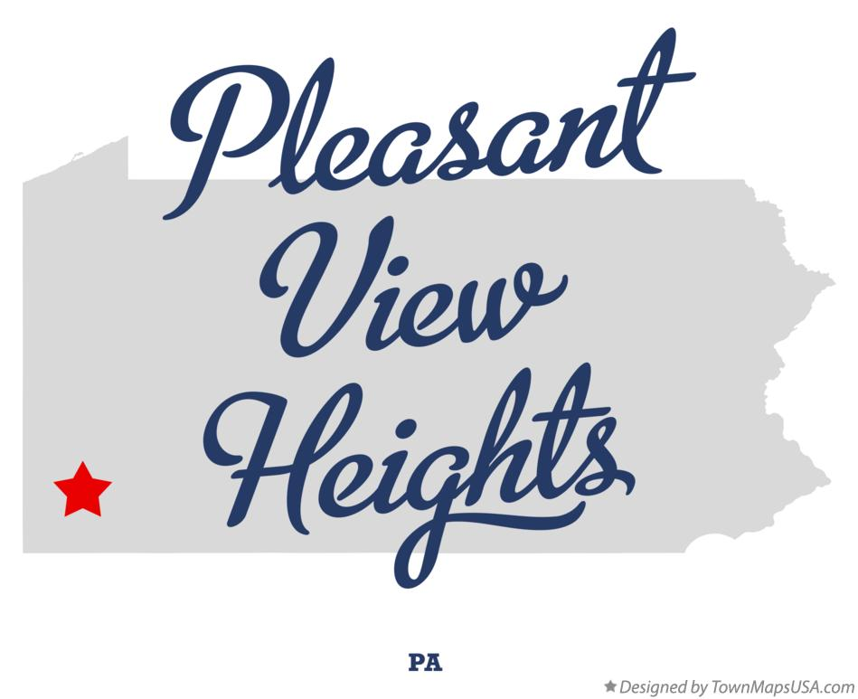 Map of Pleasant View Heights Pennsylvania PA