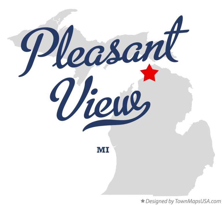 Map of Pleasant View Michigan MI