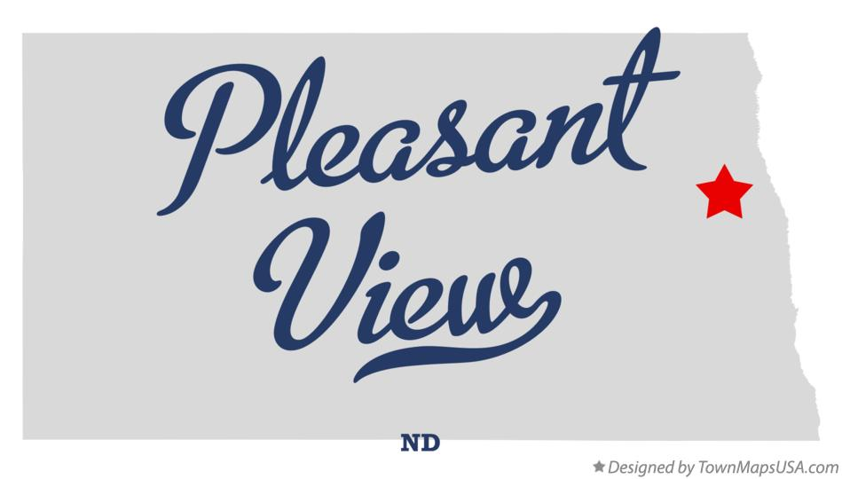 Map of Pleasant View North Dakota ND