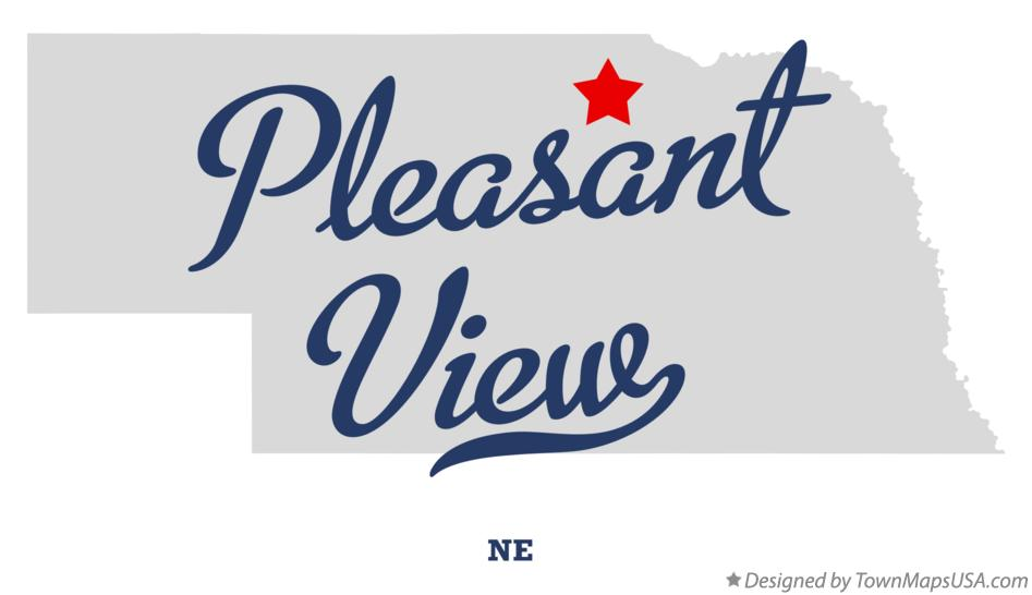 Map of Pleasant View Nebraska NE
