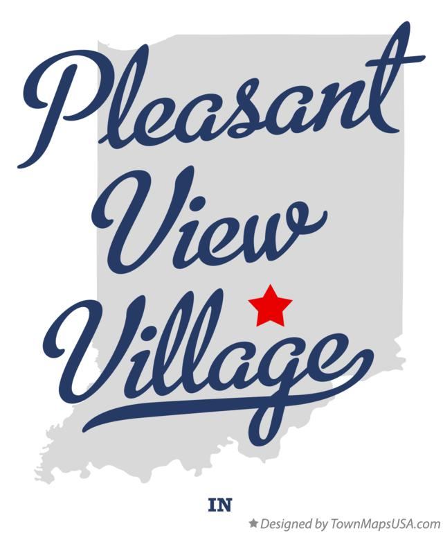 Map of Pleasant View Village Indiana IN