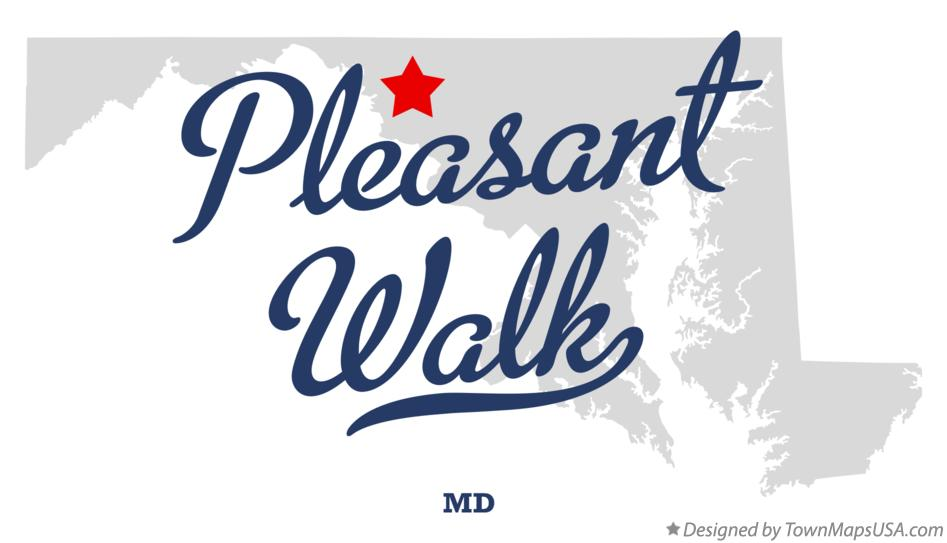 Map of Pleasant Walk Maryland MD