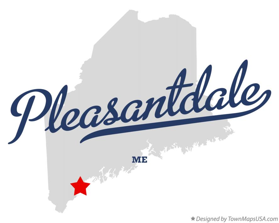 Map of Pleasantdale Maine ME