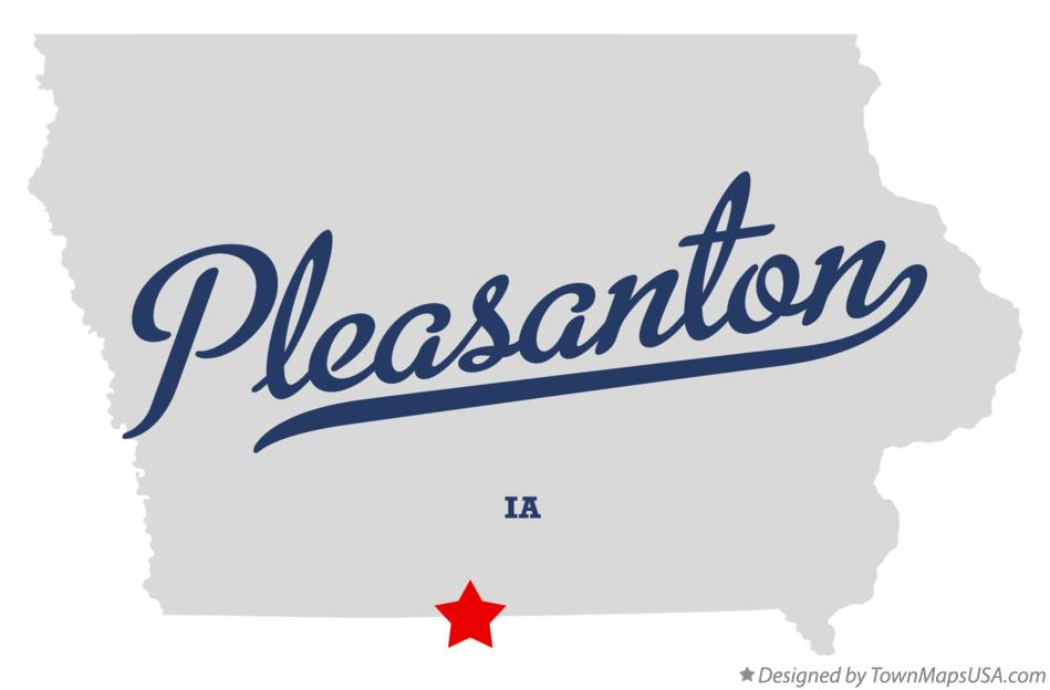 Map of Pleasanton Iowa IA