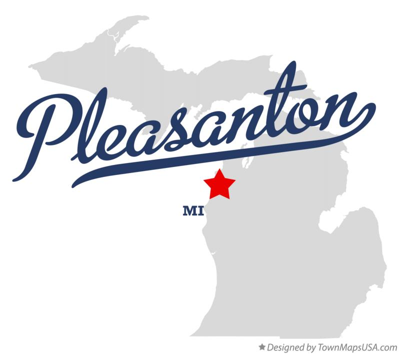 Map of Pleasanton Michigan MI