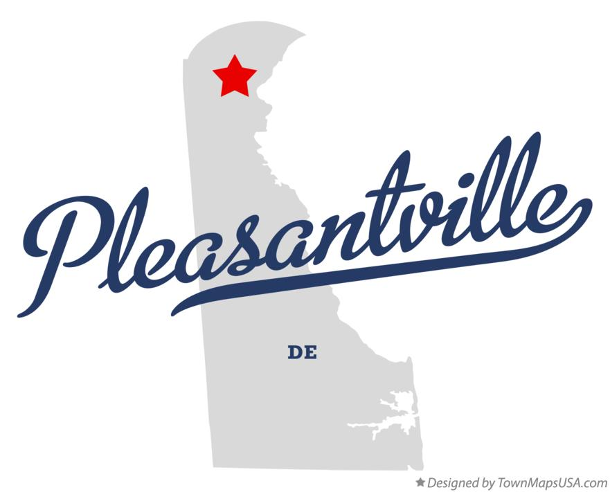 Map of Pleasantville Delaware DE
