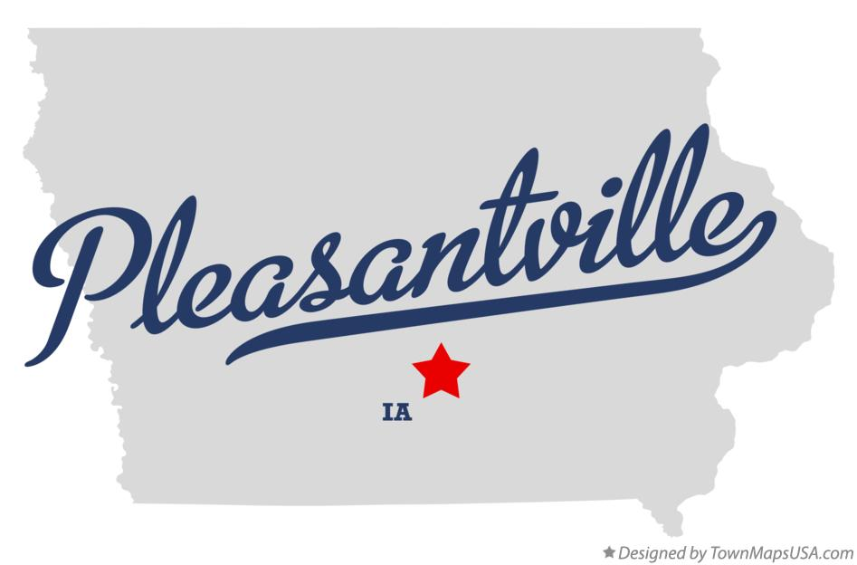 Map of Pleasantville Iowa IA