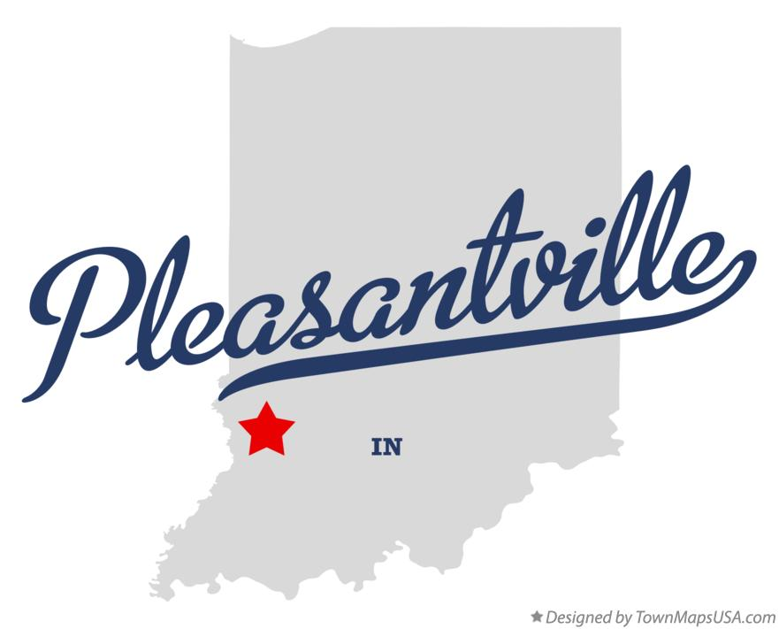 Map of Pleasantville Indiana IN